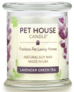 One Fur All 8.5oz. Lavender Green Tea Candle