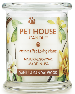 One Fur All Candle Vanilla Sandalwood 8oz