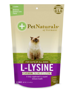 Pet Naturals 60T L-Lysine For Cats