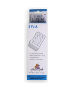 Pioneer Pet 3pk T Shaped Swan Fountain Replacement Filters