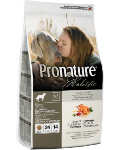 Pronature Holistic Dog Turkey & Cranberry Indoor Dog Food 6lb