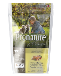 Pronature Holistic Cat Chicken & Sweet Potato Growth Cat Food .75lb
