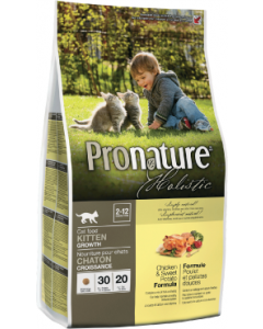 Pronature Holistic Cat Chicken & Sweet Potato Growth Cat Food 12lb
