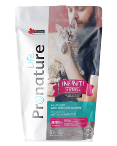 Pronature Life All Stages Infiniti Salmon Cat Food .75lb