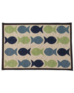Petrageous Kool Fishes Green & Blue Pet Placemat