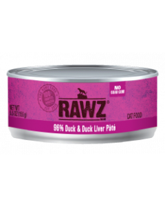 5.5oz Rawz 96% Duck & Duck Liver Cat Food