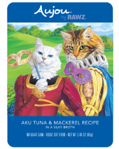 2.5oz Rawz Aujou Tuna & Mackerel Pouch Cat Food
