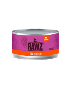3oz Rawz 96% Rabbit Cat Can