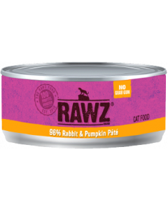 3oz Rawz 96% Rabbit Pumpkin Cat Can