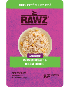 2.46oz Rawz Chicken Breast & Cheese Cat Food Pouch