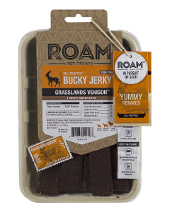 5oz Roam Pet Treats Venison Bucky Jerky