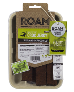 5oz Roam Pet Treats Crocodile Jerky