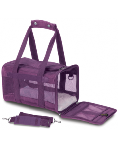 Sherpa Large Pet Carrier Bag Plum 19x11x11.5