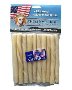 "10 pack 5"" USA Double Rawhide Twists"