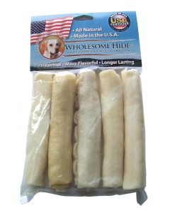 "5 pack 5"" Mini Rawhide Rolls"