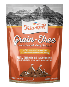 12oz. Triumph Turkey Sweet Potato Pea Dog Biscuits