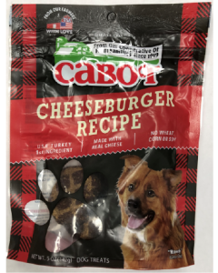 5oz Cabot Cheeseburger Dog Treat