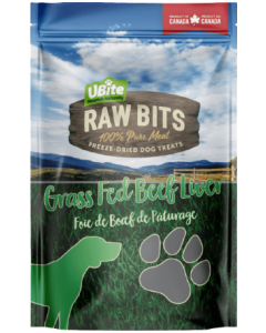 Small Bag Ubite Raw Bits Dog Treats Beef Liver