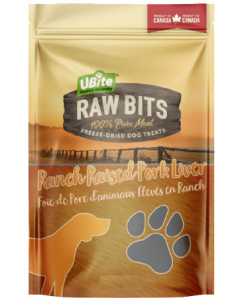Small Bag Ubite Raw Bits Dog Treats Pork Liver