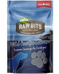 Small Bag Ubite Raw Bits Dog Treats Salmon Fillet