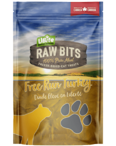 Medium Bag Ubite Raw Bits Cat Treats Turkey Breast