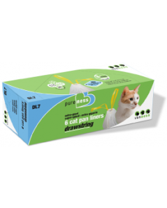 Vanness Drawstring Cat Litter Pan Liners 6 count Extra Giant