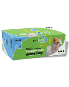 Vanness Drawstring Cat Litter Pan Liners 15 count Extra Giant