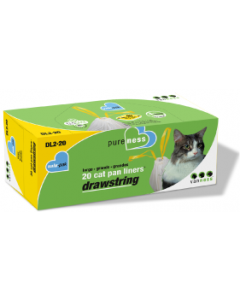 Vanness 20 count Large Drawstring Litter Pan Liners
