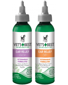 Vet's Best 2 pack Ear Relief Wash & Dry