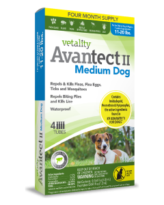 Vetality Avantect II Medium Dog 11-20 lbs 4 Pack