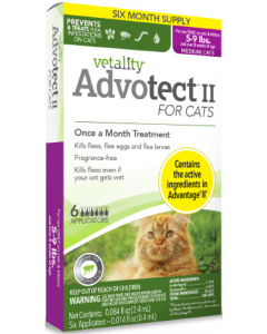 Vetality Advotec II For Cats Over 5-9 lbs 6 Pack