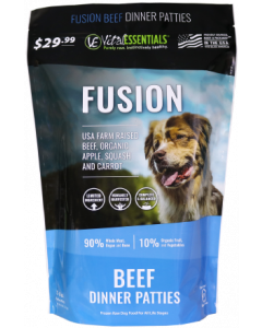 Vital Essentials Fusion Frozen Beef Dinner Patties Dog Food 6lb