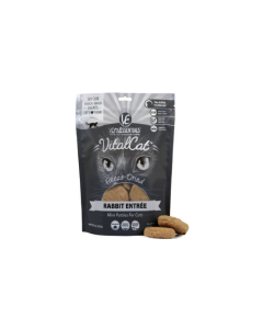 8oz Vital Essentials Freeze Dried Mini Rabbit Patties Cat