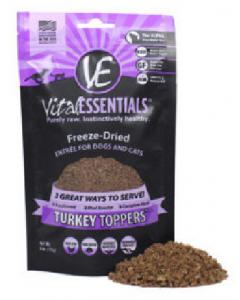 Vital Essentials Freeze-Dried Turkey Toppers for Dogs or Cats 6oz
