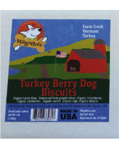 Wagatha's Turkey Cranberry Dog Biscuit Dog Treat 3lb
