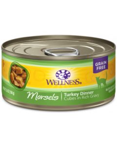 Wellness Morsels Turkey Dinner Canned Cat Food 3oz