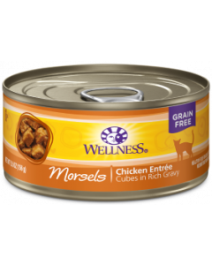 Wellness Morsels Chicken Entree Canned Cat Food 3oz