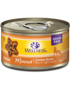 Wellness Minced Chicken Dinner Cat Food 3oz