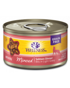 3oz. Wellness Minced Salmon Dinner Cat Can