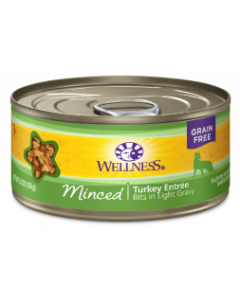 5.5oz. Wellness Minced Turkey Entree Cat Can