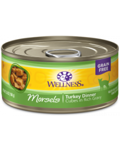 5.5oz. Wellness Morsels Turkey Dinner Canned Cat Food