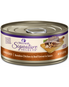 Core Signature Selects Shredded Chicken Beef Cat Food 2.8oz