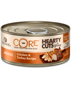 5.5oz. Wellness Core Hearty Cuts Chicken Turkey Cat Can