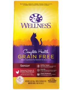Wellness Complete Health Grain Free Chicken Senior Dry Cat Food 5lb-8oz