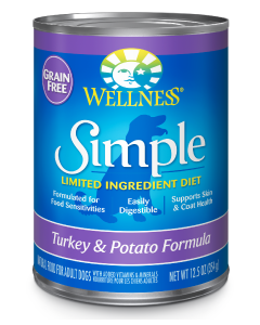 Wellness Simple Turkey Potato Dog Food 12.5oz