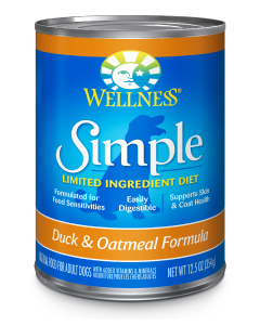 Wellness Simple Duck Rice Dog Dog Food 12.5oz