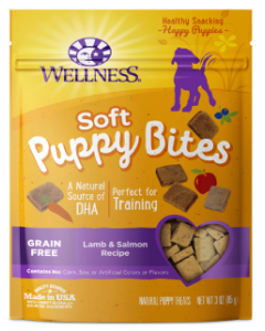 Wellness Puppy Bites Lamb Salmon Dog Treat 3oz