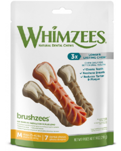 7.4oz Whimzeez Medium Toothbrush Dental Chew