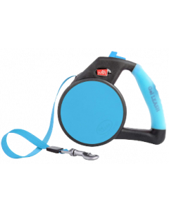 Gel Handle Reflective Tape Retractable Leash Large Blue