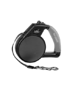 Gel Handle Reflective Tape Retractable Leash Small Black